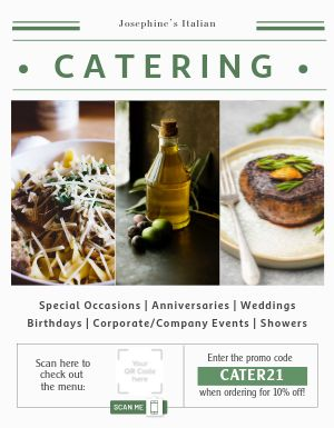 Catering Events Flyer