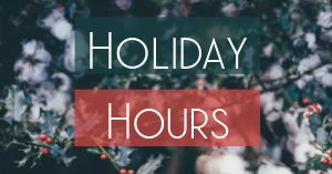 Holiday Hours Facebook Post