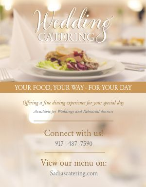 Elegant Wedding Catering Flyer