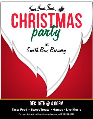 Christmas Party Restaurant Flyer