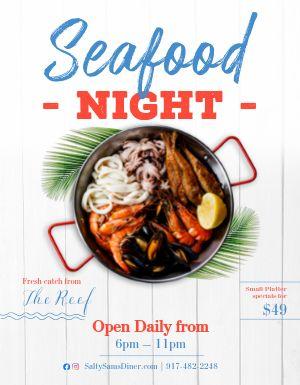 Seafood Night Flyer