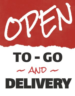 Open Delivery Sandwich Board