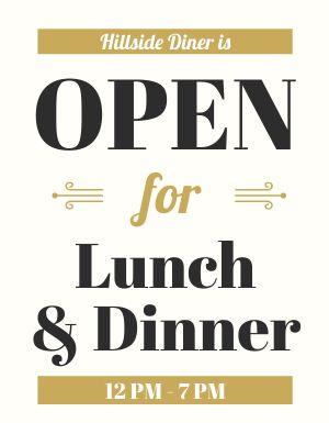 Open Diner Flyer