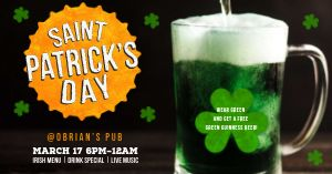 Saint Patricks Pub Facebook Post