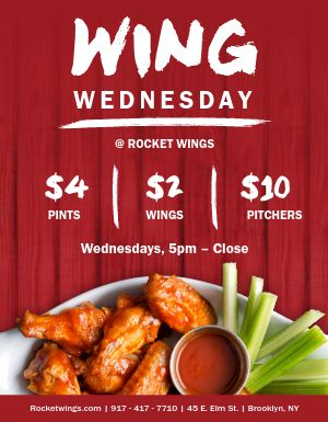 Wing Wednesday Flyer