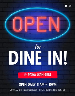Open Sign Flyer