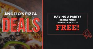 Pizza Party Deal Facebook Post