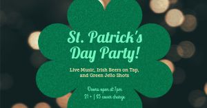 St Patricks Party Facebook Post
