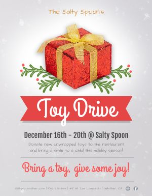 Holiday Donations Flyer