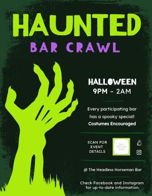 Halloween Bar Crawl Flyer