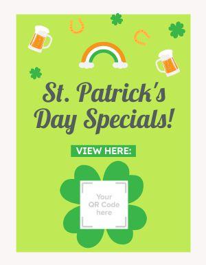 St Patricks Specials Promo