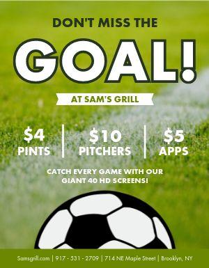 Soccer Goal Flyer