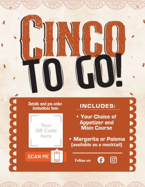 Cinco To Go Flyer