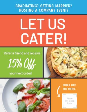 Catering Discount Flyer
