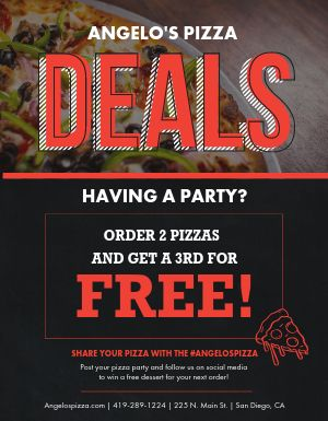 Pizza Party Deal Flyer