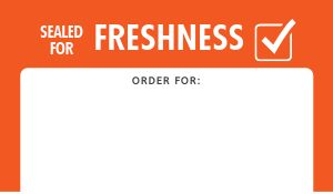 Freshness Takeout Food Label