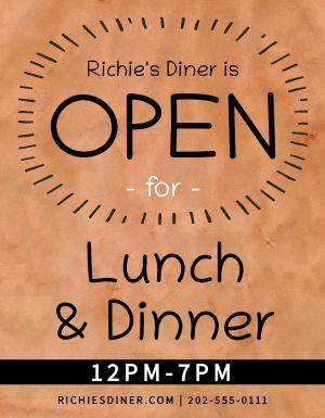 Open Diner Sign