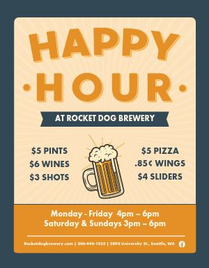 Fun Happy Hour Flyer