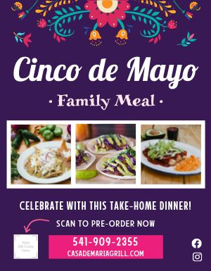 Cinco De Mayo Family Meal Flyer