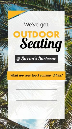 Summer Seating Instagram Story