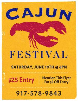 Cajun Festival Flyer