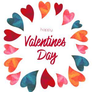 Valentine Hearts Instagram Post