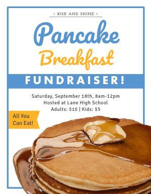 Breakfast Fundraiser Flyer