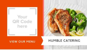 Catering QR Code Sticker