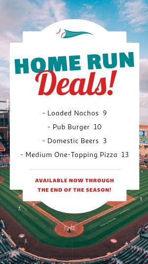 Baseball Deals Facebook Story