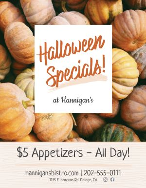 Halloween Specials Sign