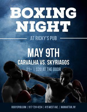 Boxing Match Flyer