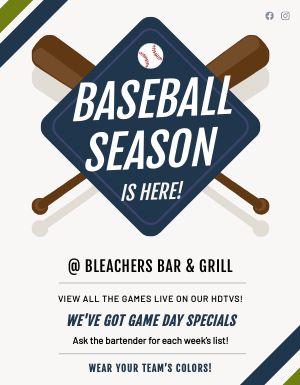 Baseball Season Sign