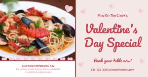 Valentines Day Specials Facebook Post
