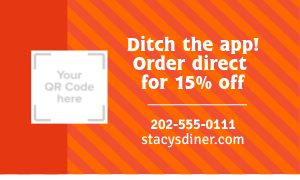 Restaurant Discount Promotional Card