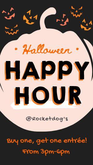 Halloween Happy Hour Instagram Story