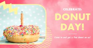 Donut Day Celebration Facebook Post