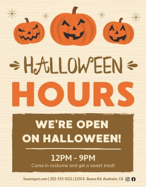 Halloween Hours Sign