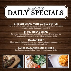 Daily Specials Instagram Post