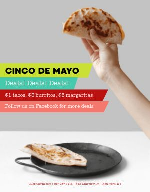 Cinco De Mayo Deals Flyer
