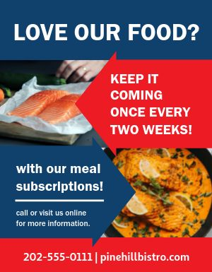 Meal Plan Flyer