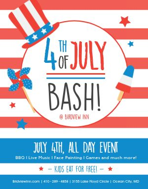 Fourth of July Bash Flyer