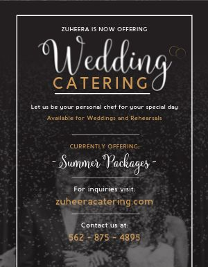 Cater Wedding Flyer