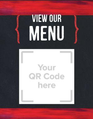 Restaurant QR Code Flyer