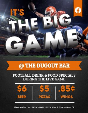 Big Game Flyer