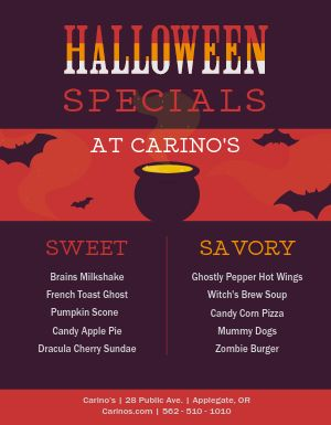 Halloween Specials Flyer