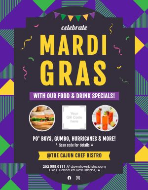 Mardi Gras Celebration Flyer