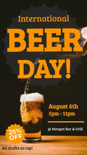 International Beer Day Facebook Story