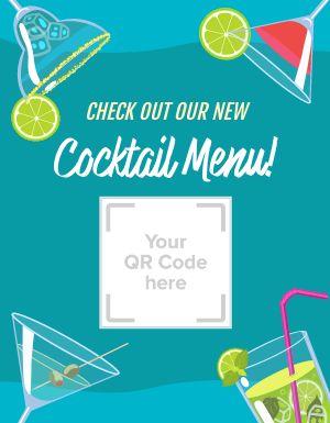 Cocktail Menu QR Flyer