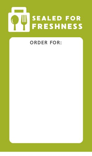 Freshness Takeout Seal