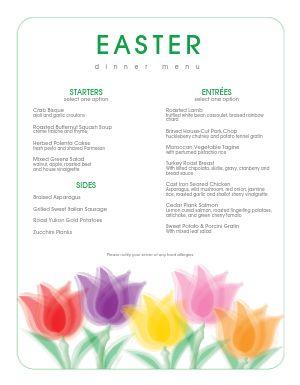 Traditional Easter Brunch Menu
